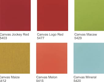 Sunbrella Outdoor Fabrics By the Yard! This Listing for Solid Sunbrella Canvas Fabrics - All Current Colours