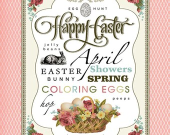 april subway art easter printable instant download