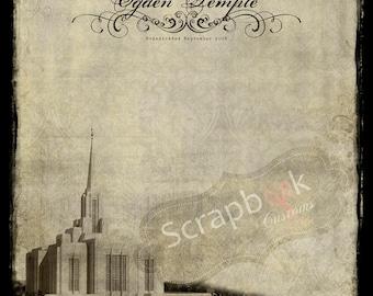 Ogden Temple. Vintage LDS Temple. Utah. Instant Download. Mormon Temple. The Church of Jesus Christ of Latter-Day Saints.