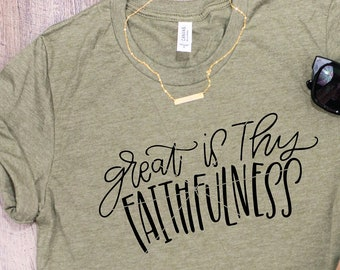 Great Is Thy Faithfulness SVG , Christian SVG , God svg , Jesus svg , bible verse svg , christian  svg , easter svg , hand lettered svg