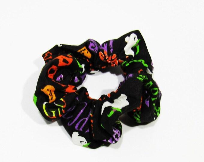 Spooky Halloween Scrunchie Hair Cloud Bun Holder