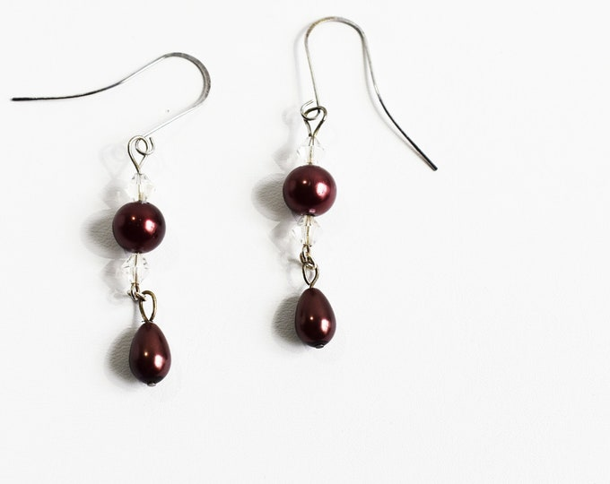 Dangle Earrings - Chocolate Pearl