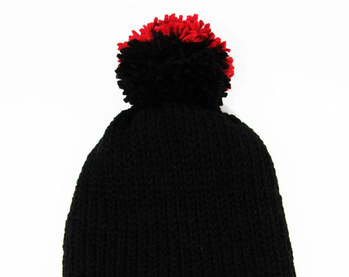 Two-Toned Beanie Black and Red