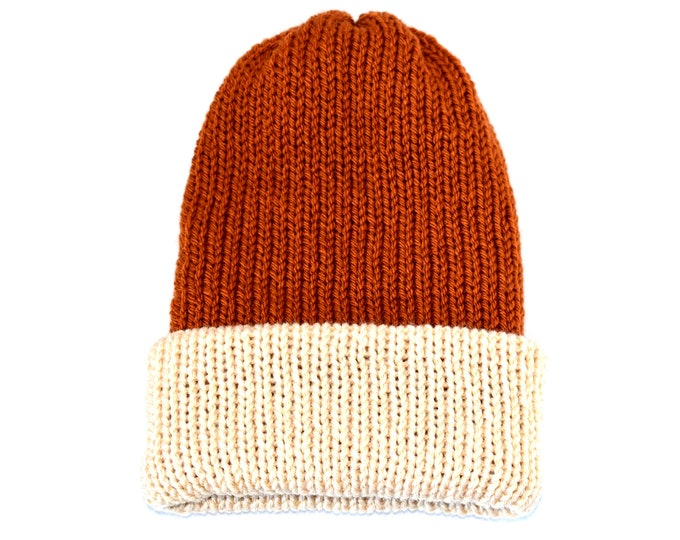 Two Toned Rustic Beanie