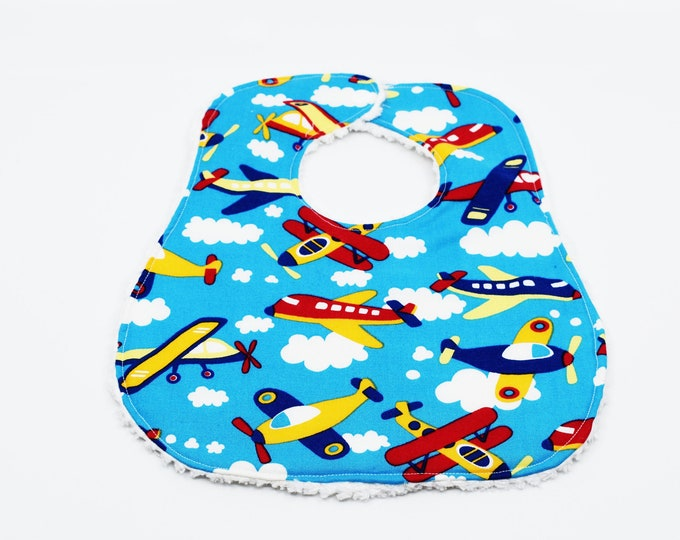Airplane Baby Bib ~ Baby Shower Gift ~ Gifts for Baby ~ Gifts for New Mom