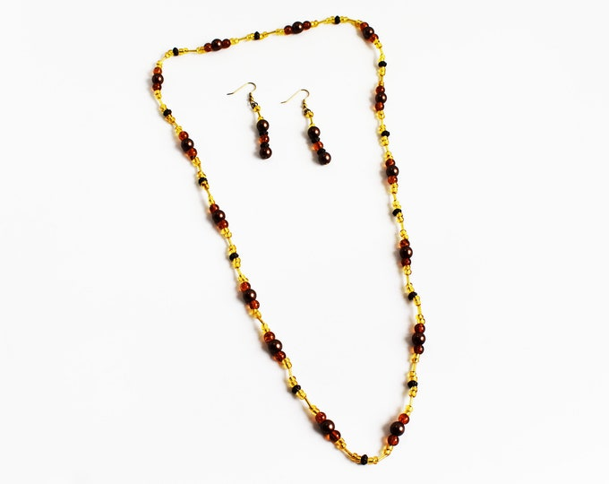 Fall Fashion Necklace and Earrings Set