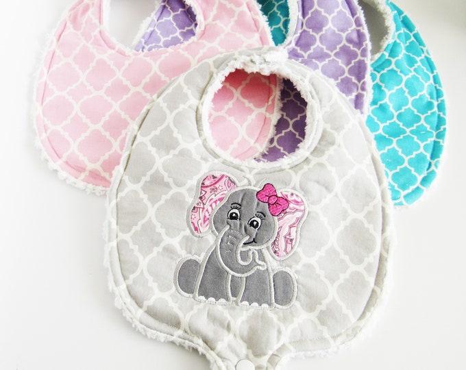 Baby Elephant Boutique Baby Bib Set