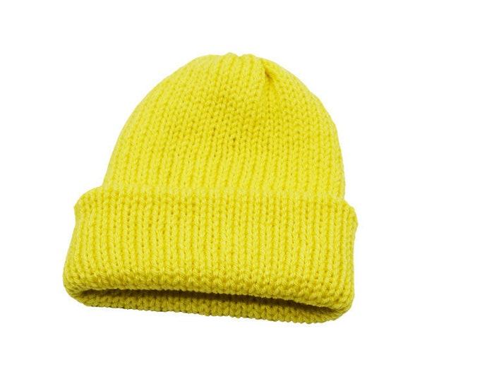 The Classic Beanie  Yellow