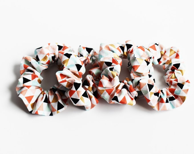 Scrunchie ~ Modern Geometric Tribal Aztec Scrunchie ~ Hair Cloud ~ Messy Bun ~ Scrunchie Love ~ Scrunchie Life ~ Hair Tie ~ Hair Accessories