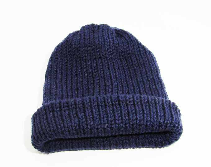 The Classic Beanie  Navy Blue