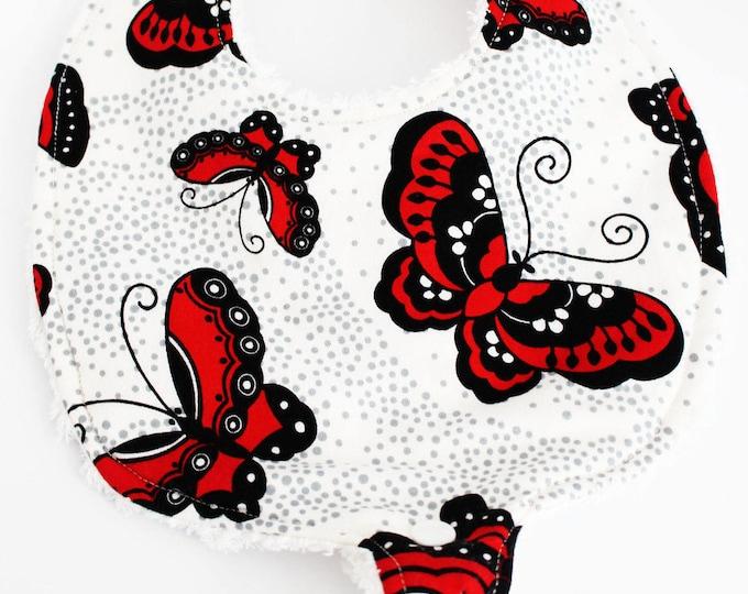 Butterfly BinkyBoutique Bib ~ Baby Girl ~ Baby Shower Gift