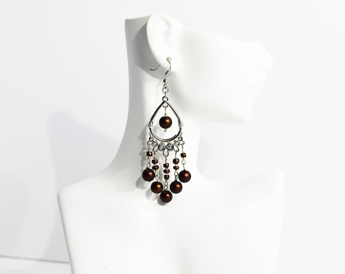 Exquisite Chocolate Chandelier Boutique Earrings