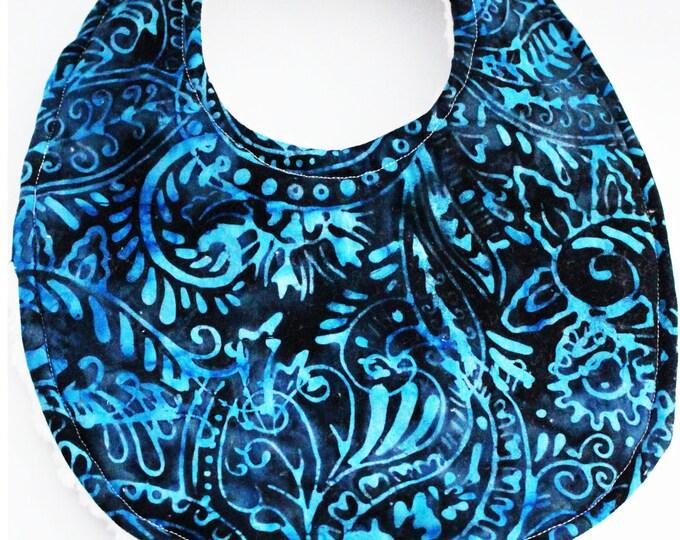 Blue Batik Baby Boutique Binky Bib ~ Pacifier Bib