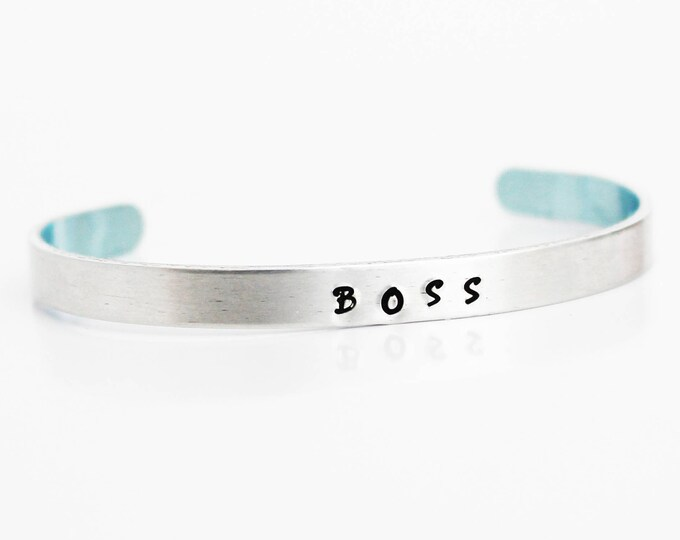 Jewelry ~ BOSS Handstamped Cuff Bracelet