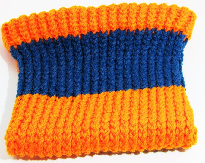 Orange And Blue Hooded Cowl