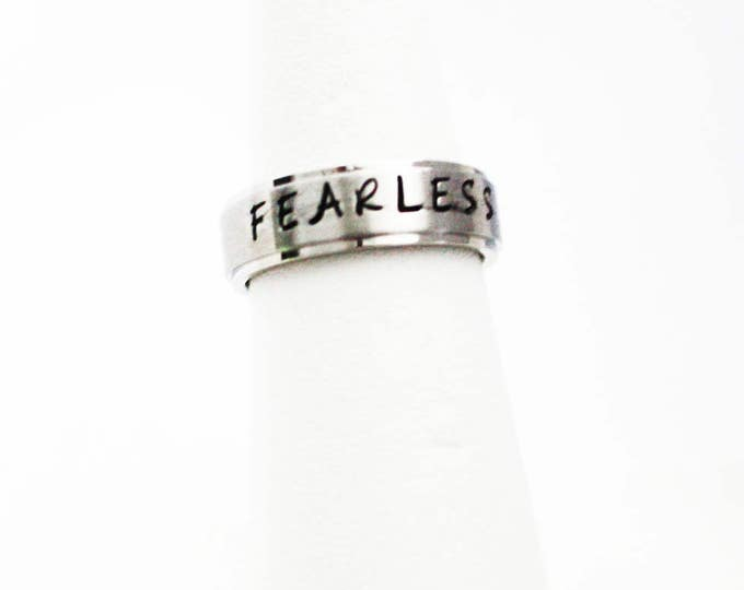 "Handstamped ""FEARLESS"" Ring"