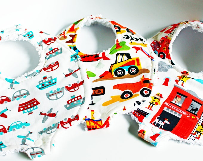 Baby Boys Boutique Binky Bib Set ~ Baby Shower Gifts