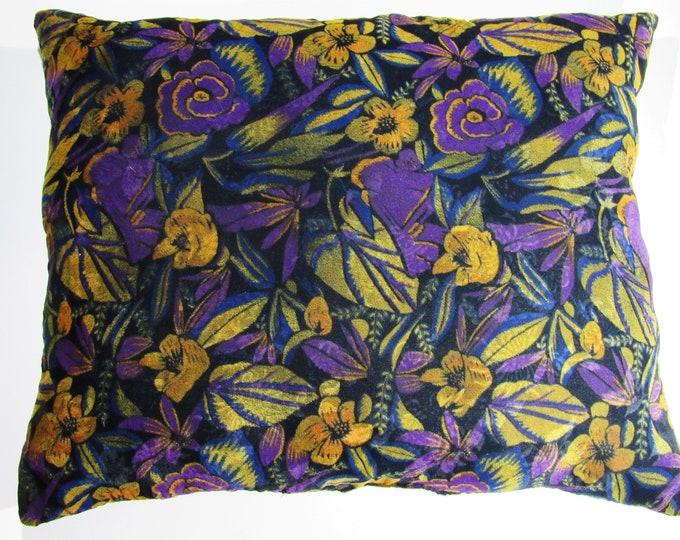 Decorative Pillow ~ Velvet  Floral Throw Pillow