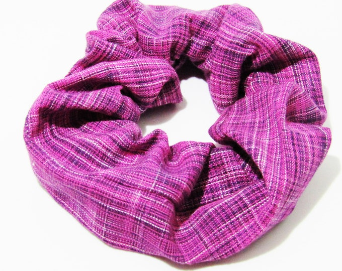 Pink Plaid Scrunchie ~ Hair Cloud