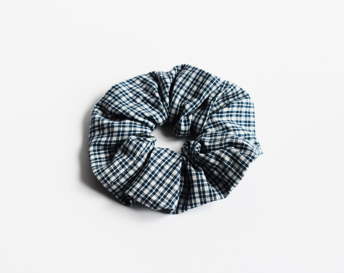 Scrunchie ~ Blue Plaid Scrunchie ~ Hair Accessories ~ Hair Ties ~ Bun Holder ~ Scrunchie Life ~ Scrunchie Love ~ 90s ~ Messy Bun~ Scrunchies