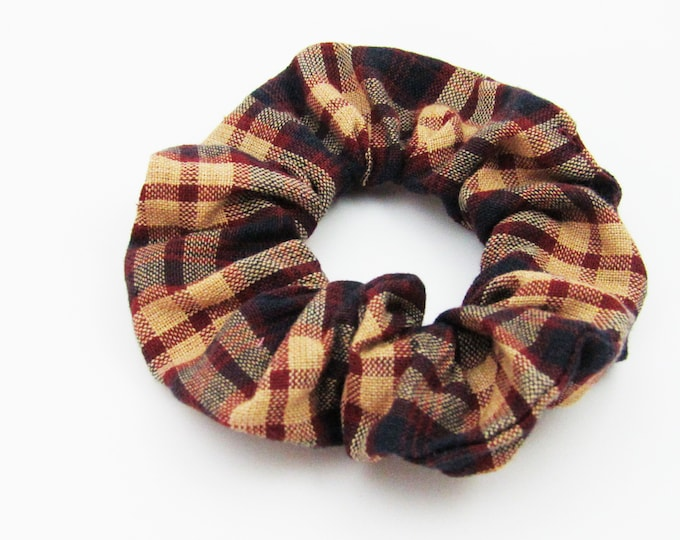 Plaid  Hair Scrunchie ~ Hair CLoud