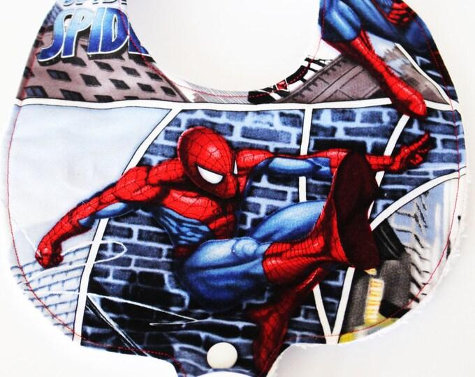 Spider Man Binky Bibs ~ Hero Bibs ~ Pacifier Bibs ~ Baby Boy Bibs ~ Baby Shower Gifts ~ Baby Gifts