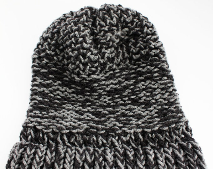 Winter Hat Black and Gray