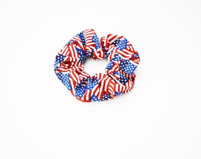 Scrunchies - All American Patriotic USA Flag Scrunchie-  4th of July - Messy Bun - Hair Ties - Top Knot - Americana - Summer - 90s Fashion