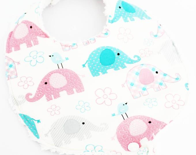 Lucky Baby Elephants Boutique Binky Bib