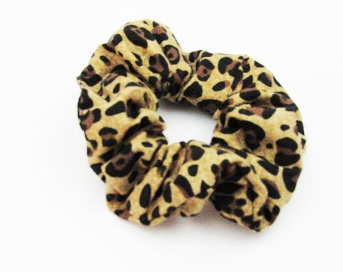Scrunchie ~Leopard Print ~ Hair Cloud ~ Messy Bun ~ Top Knot ~ Hair Ties ~ Ponytail Holder