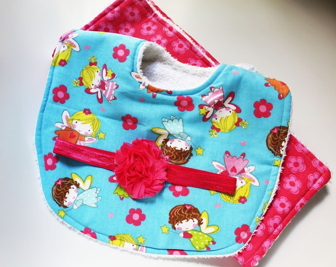 Baby Fairy Bib ~ Burp Cloth ~ Baby Shower ~ Baby Girl