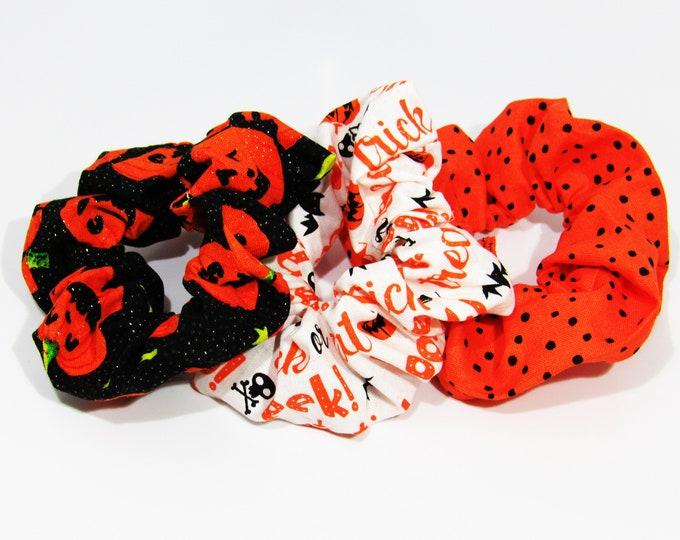 Scrunchies ~ Best Halloween Scrunchies ~ Bun Holders ~ Hair Clouds ~ Top Knot ~ Messy Buns