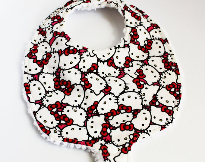 Baby Girl Binky Bib ~ Hello Kitty