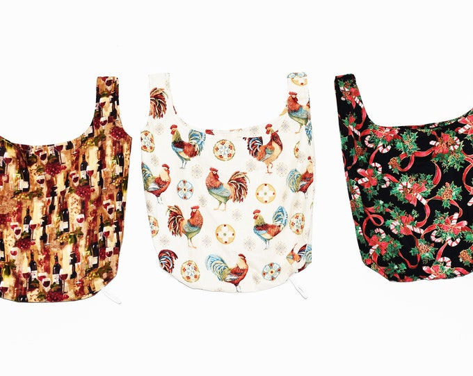 Reusable Grocery Bag, Cotton Grocery Bag, Produce Bag, Farmers Market Bag, Reusable Bag, Grocery Bag, Foldable Bag, Soft Bag