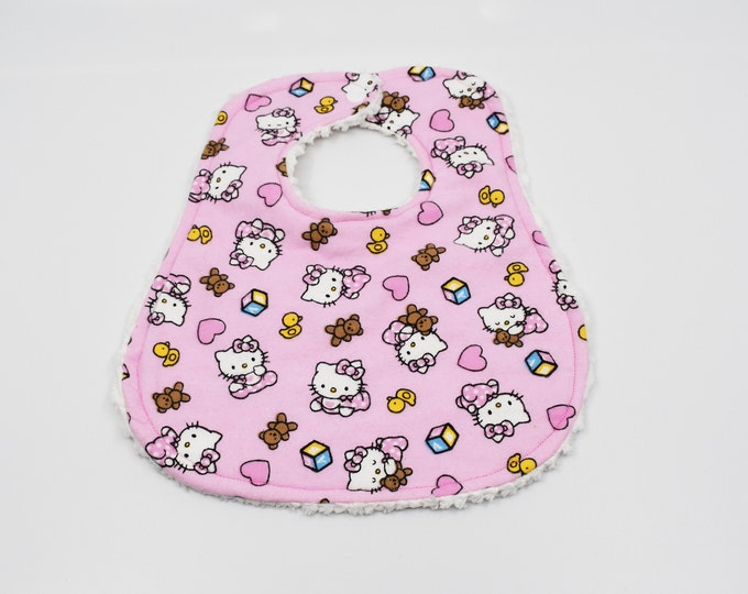 Hello Kitty Baby Girls Boutique Bib ~ Baby Shower Gift ~ Gifts for Baby ~ Gifts for New Mom