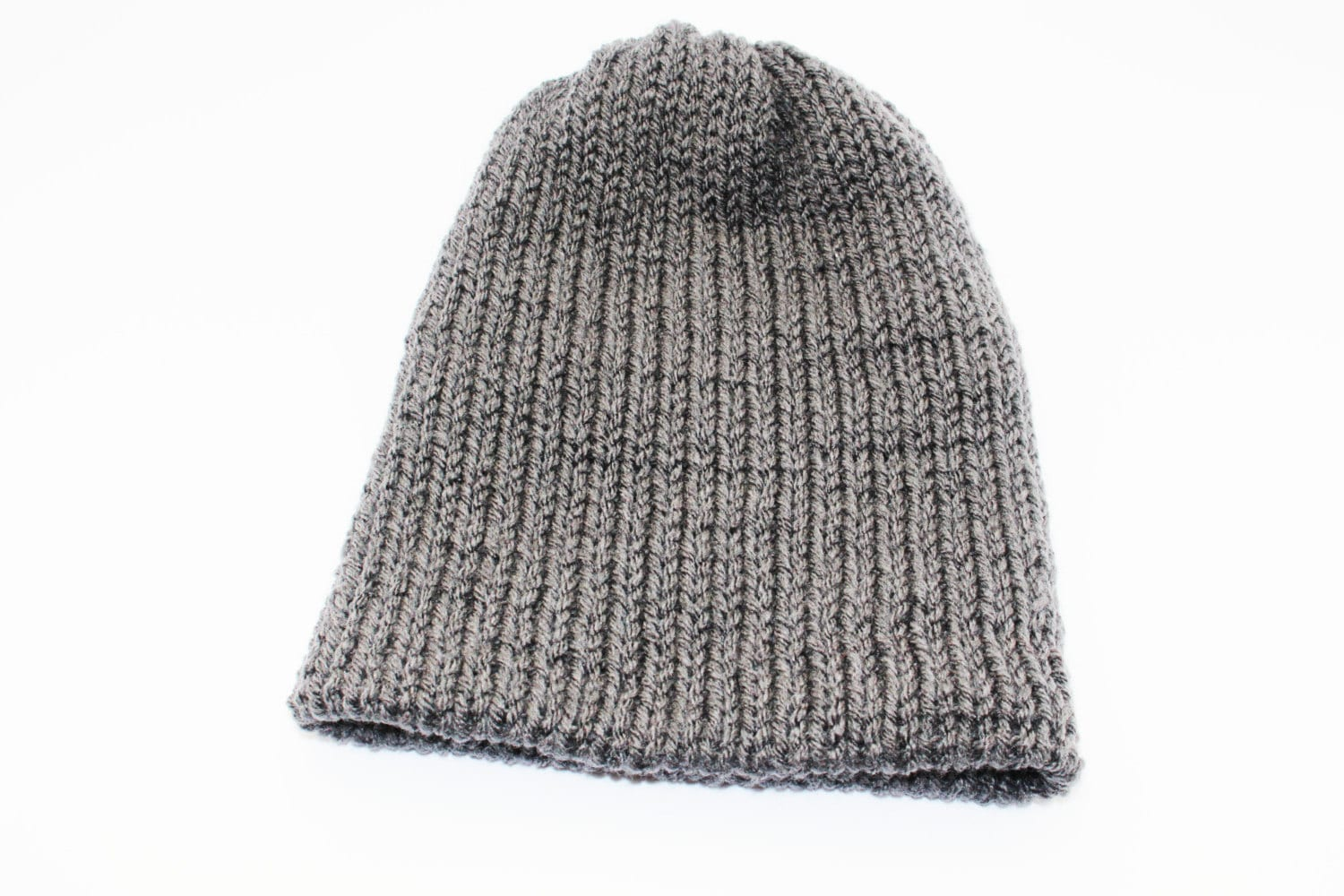 47c5d83424c36 Grey Ski Snowboarding Double Layer Slouchy Beanie ~ Mens ~ Hat ~ For Him ~ Best  Beanie Ever