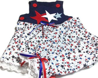 5122cc357d71 Baby Girl 4th of July Outfit