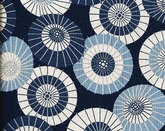 Beautiful Umbrellas:  Blue Asian Japanese Fabric