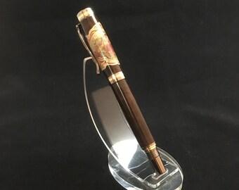 Custom Made Davidoff Cigar label on Tasmanian Blackwood Premier Cigar Pen