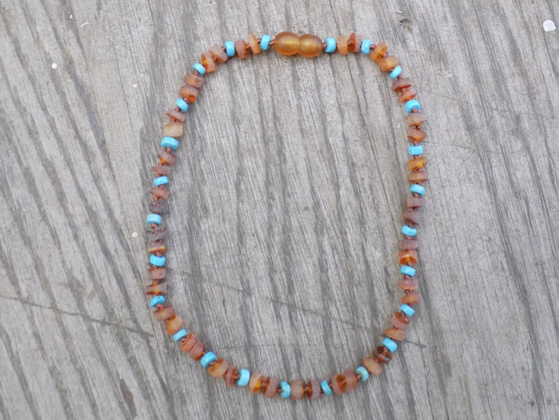 12.5 Cylindrical Matte Baltic Amber and Turquoise image 0