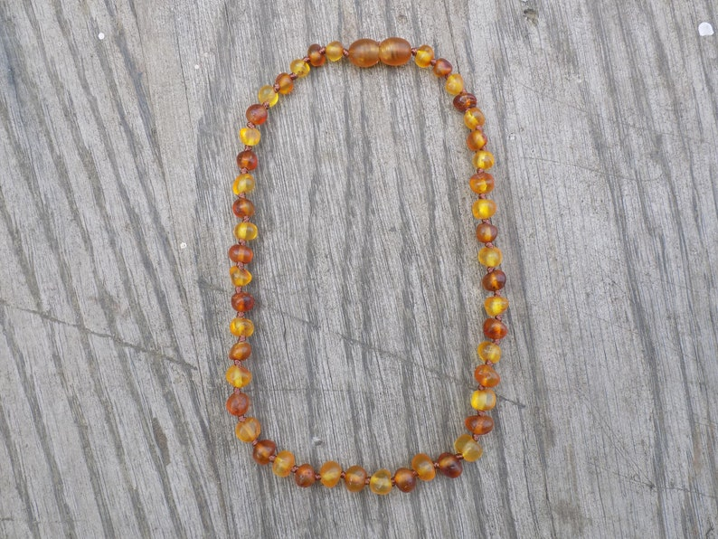 11.75 Inch Matte Honey and Cognac Baltic Amber Necklace image 0