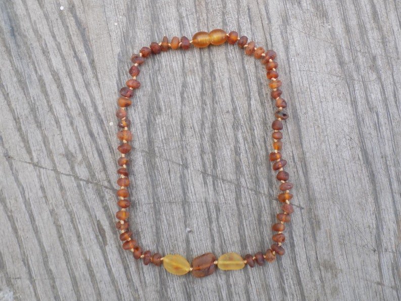 12.25 Inch Matte Honey and Cognac Baltic Amber Necklace image 0