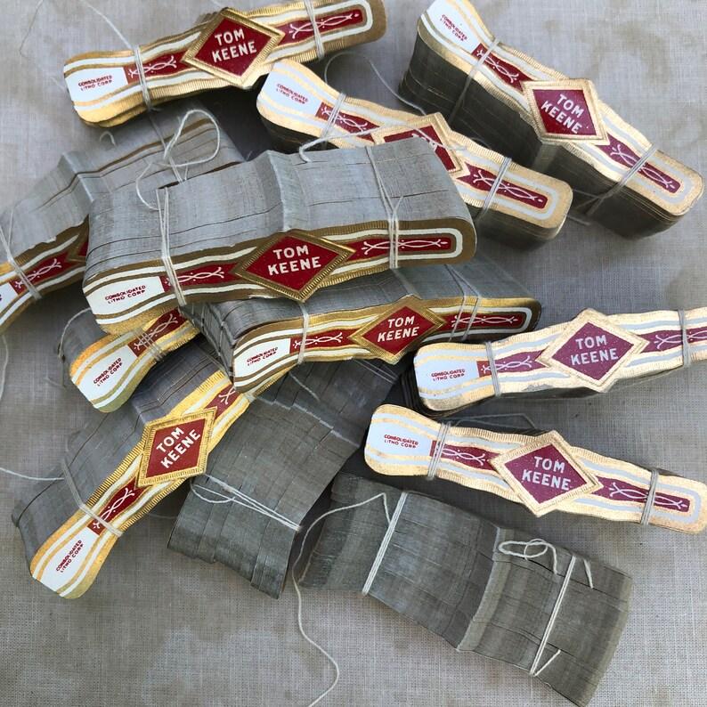 Vintage Cigar Labels Bundle of 250 cigar bands Advertising image 0