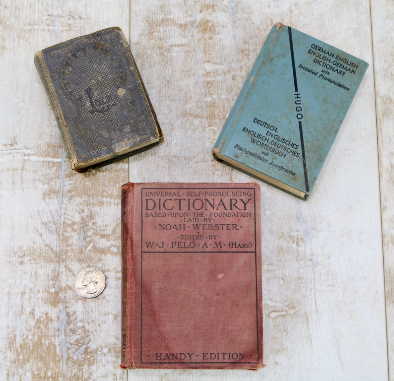 Vintage Mini Dictionaries Ephemera Collage Vintage Book image 0