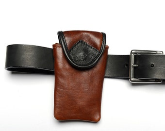 Leather Belt Pouch Handmade Leather iPhone Holder Cellphone Holder Leather Belt Bag Leather Accesories Leather Pouch Belt Karen Gunna