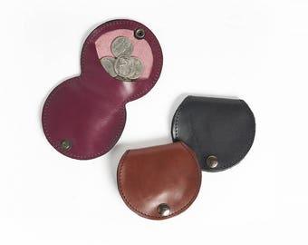 Handmade Custom Leather Minimalist Wallet Leather Coin Purse Mens Wallet Coin Pouch Change Purse Gift For Him Birthday Gift Karen Gunna