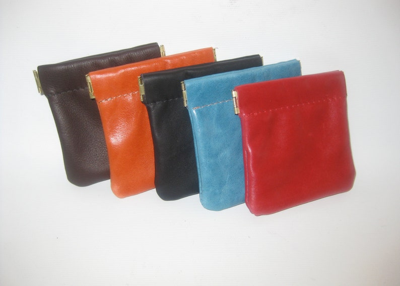 Leather Change Pouch Minimalist Wallet image 0