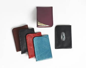 Custom Handemade Leather Minimalist Wallet Leather Credit Card Wallet Leather Wallet Travel Wallet Leather Card Holder Personalized