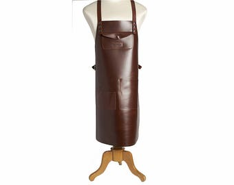 Personalized Leather Work Apron Barber Apron Barista Apron Fathers Day Gift For Him Tatooist Apron Hand Made Tool Apron Steampunk Apron