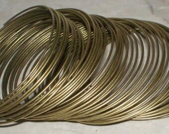 Bronze Steel Memory Wire - 25 or 50 Loops